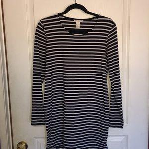 Full sleeve H&M striped dress